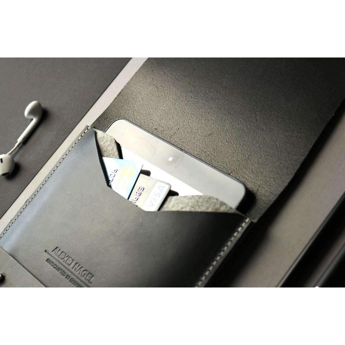 Alexej Nagel Elegante Hülle für iPad Air / Air 2 aus Premiumleder - Schwarz [BL]