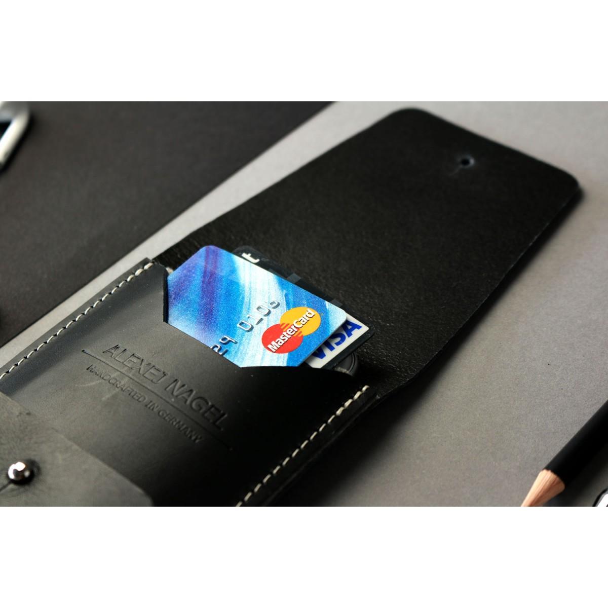 Alexej Nagel Elegante iPhone 6 / 6S Hülle aus Premiumleder - Schwarz [BL]