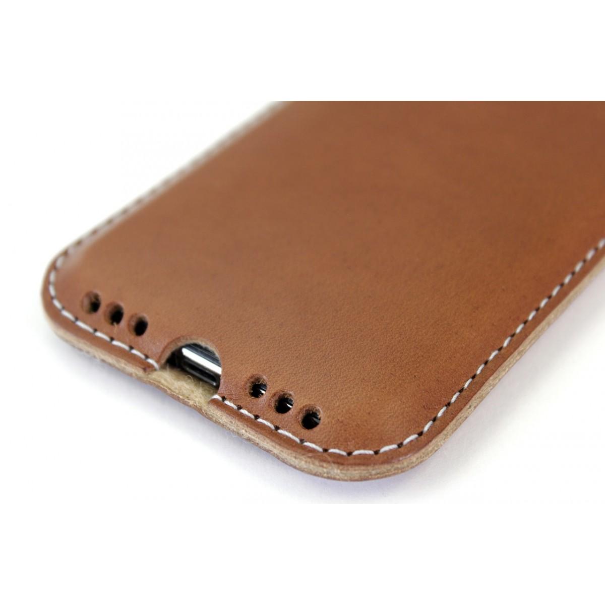 Kingston - iPhone 11 Pro Max / XS Max Hülle aus pflanzlich gegerbtem Leder mit 100% Merino Wollfilz innen kaschiert. Schmale Version!