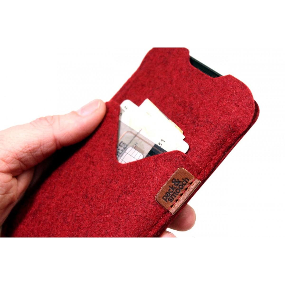Pack & Smooch iPhone 12 Pro / 12 Hülle mit Kartenfach SHETLAND 100% Merino Wollfilz