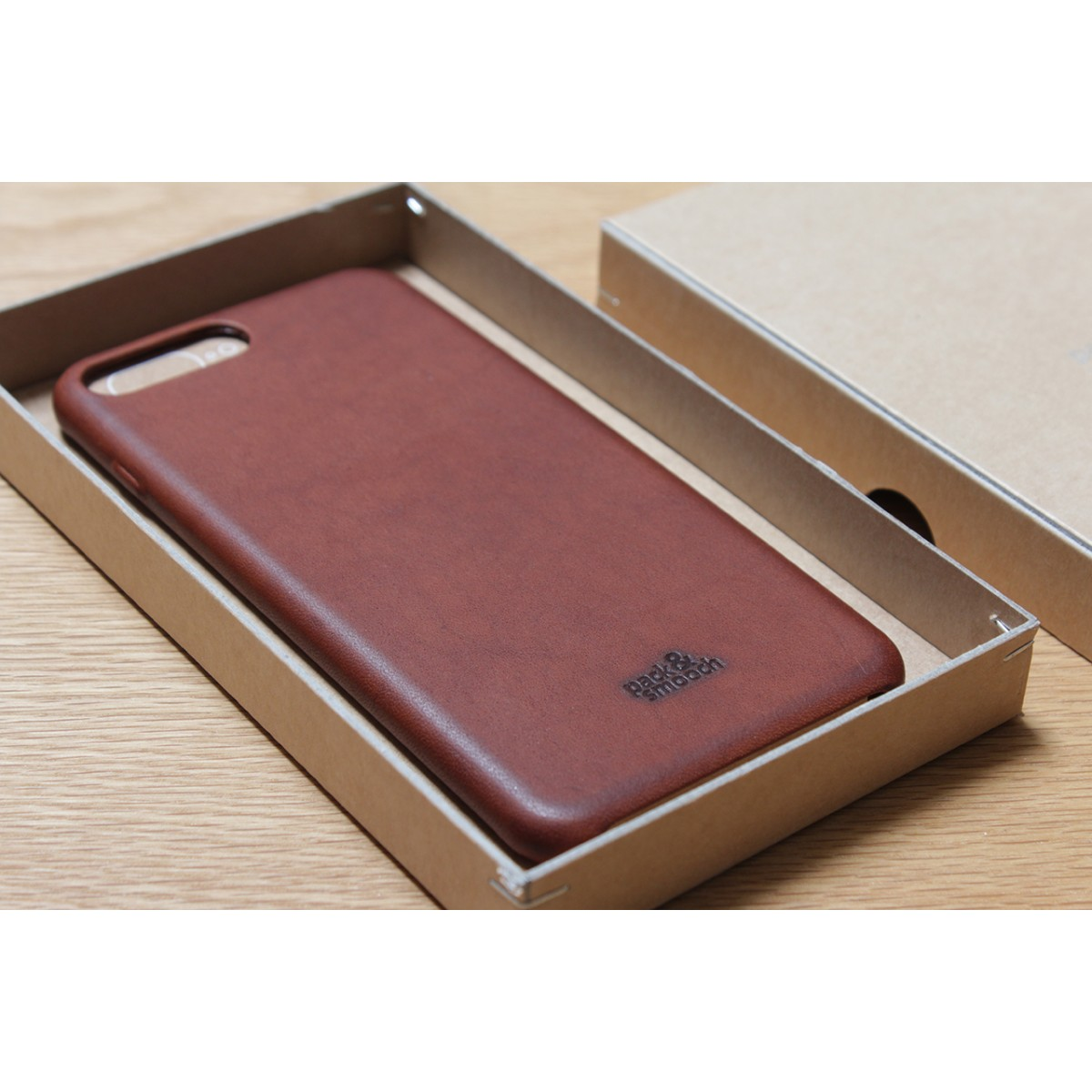 iPhone 8 / 7 PLUS Leder Hülle, Back Cover (Vegetable tanned leather)
