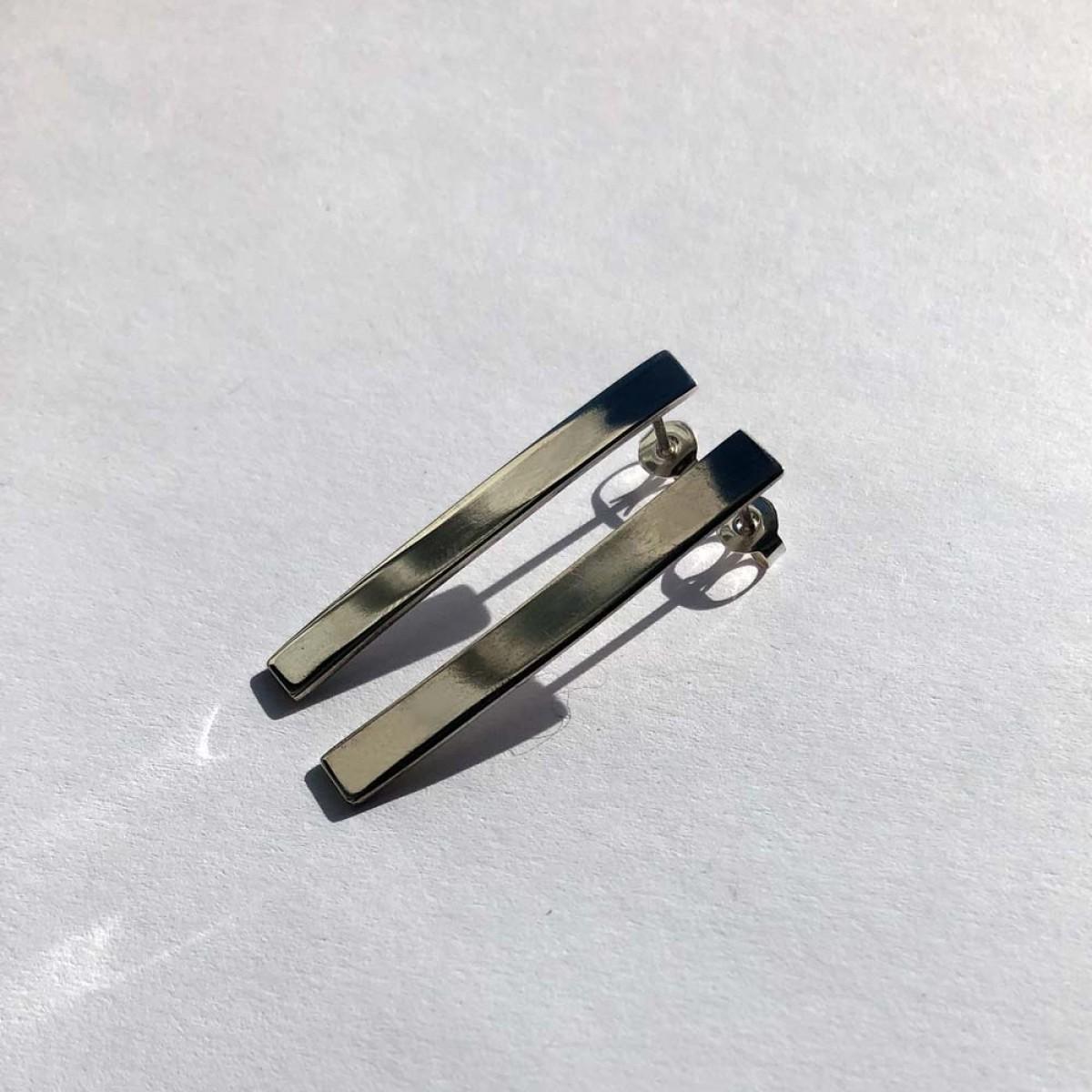 Ohrringe Block in Silber