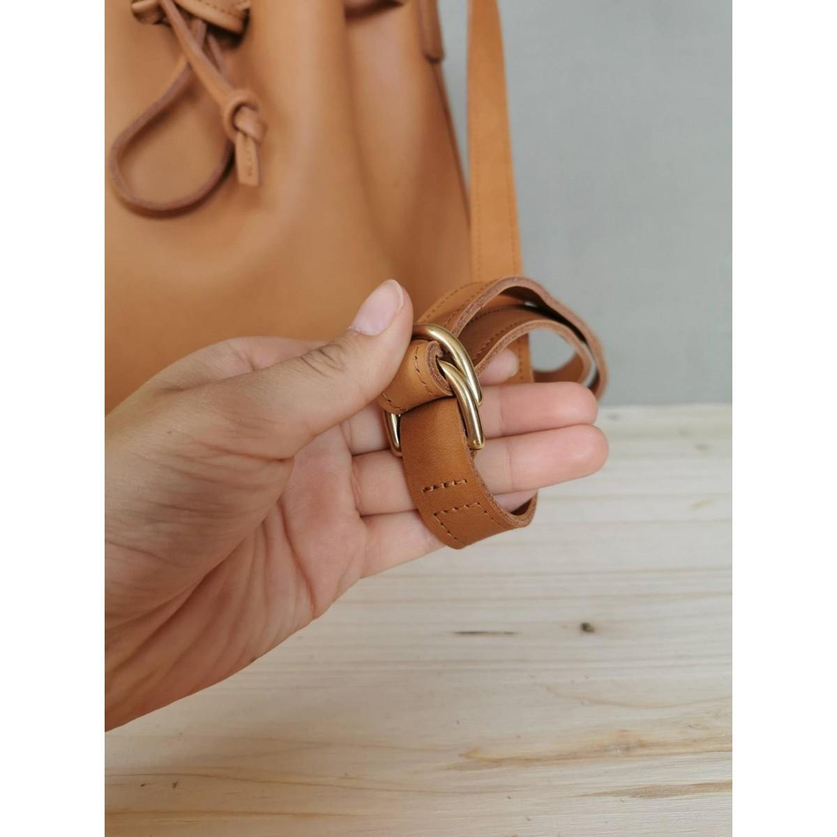 BSAITE / Leder Bucket Bag / Leder Beuteltasche