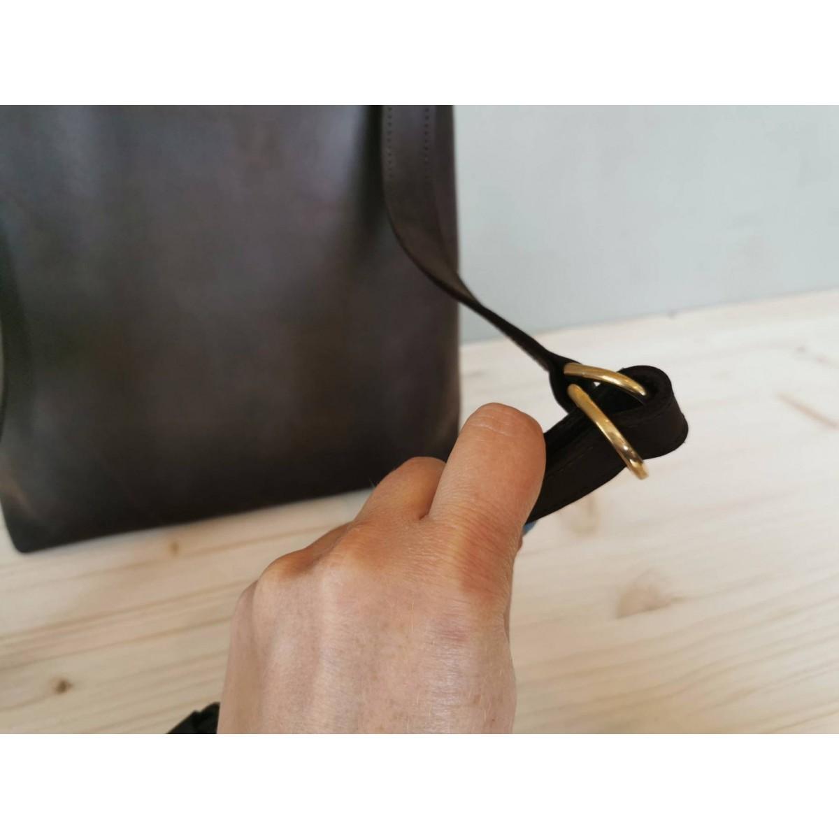 Dunkelbraune Leder Beuteltasche // leather Bucket Bag // chestnut Bucketbag // Tote Bag // Boho // Ledershopper // Crossbody Bag