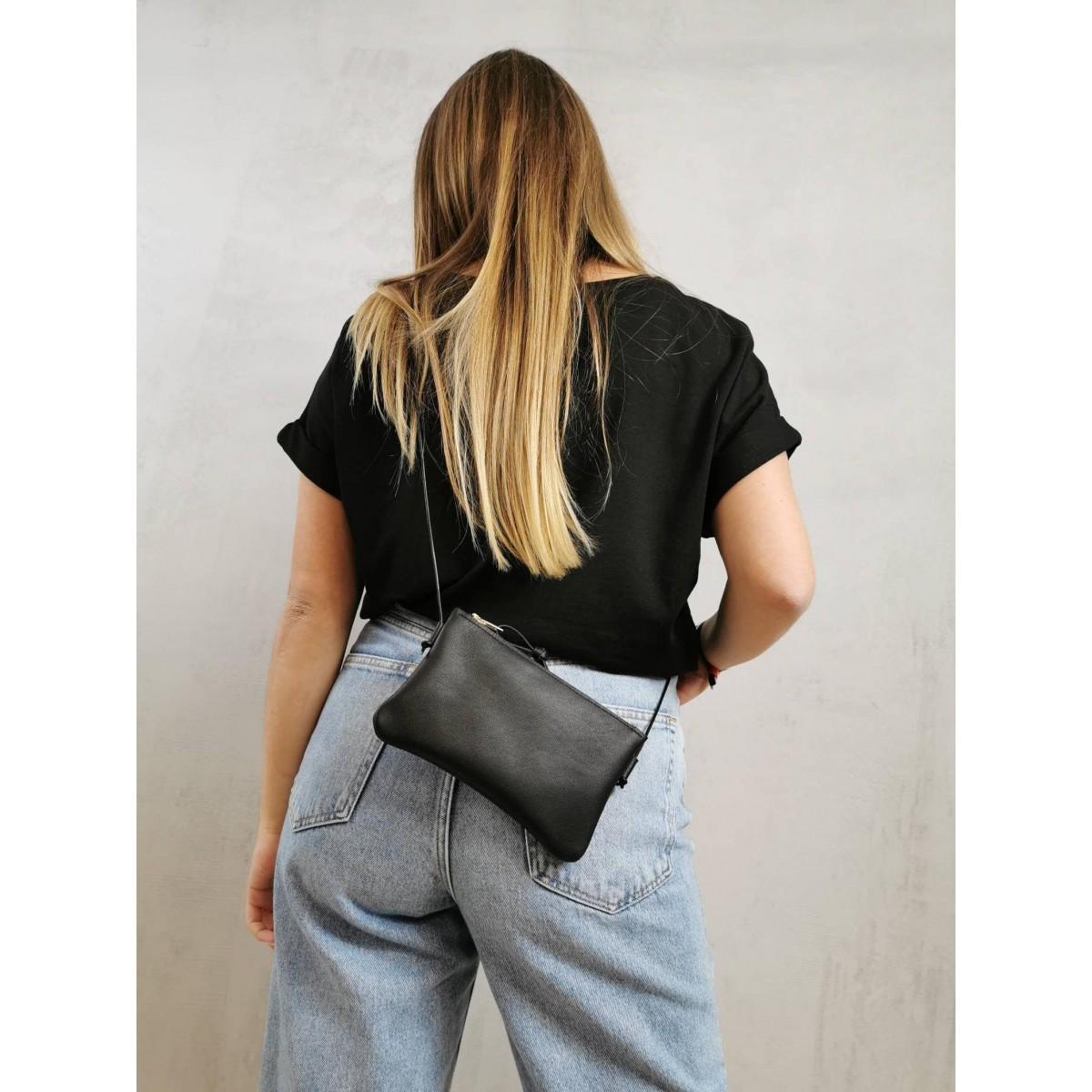 BSAITE kleine Umhängetasche / Smartphone Bag / Echt Leder