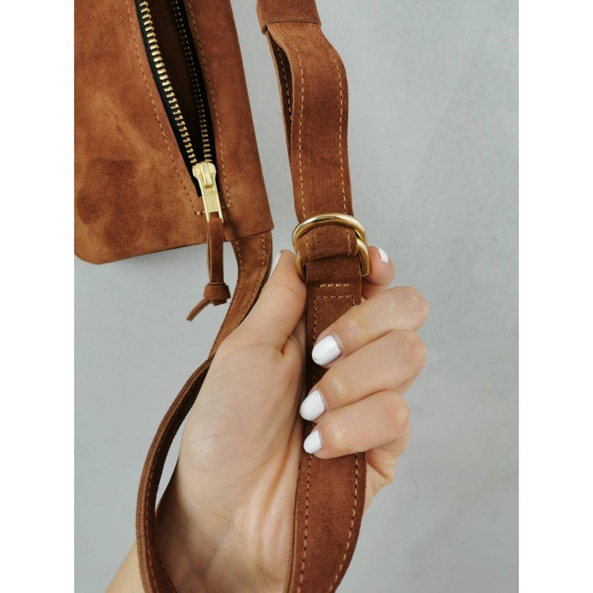 Wildleder Gürteltasche // Hüfttasche // Hip bag // Fanny Pack // Crossbody // suede leather bag // Slouchy