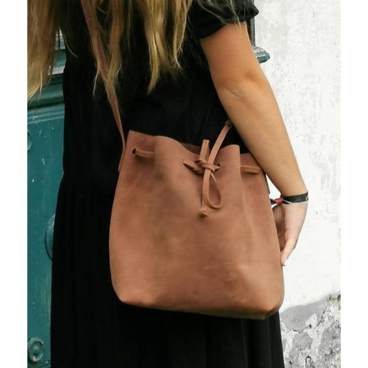 BSAITE / Bucket Bag Leder / Leder Beuteltasche