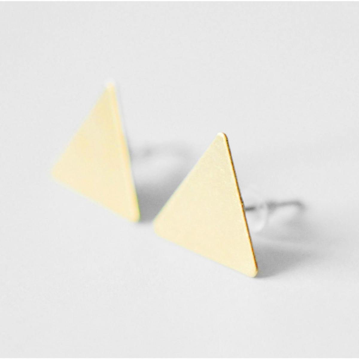 """nahili OHRSTECKER """"triangle"""" Dreieck Ohrschmuck"""