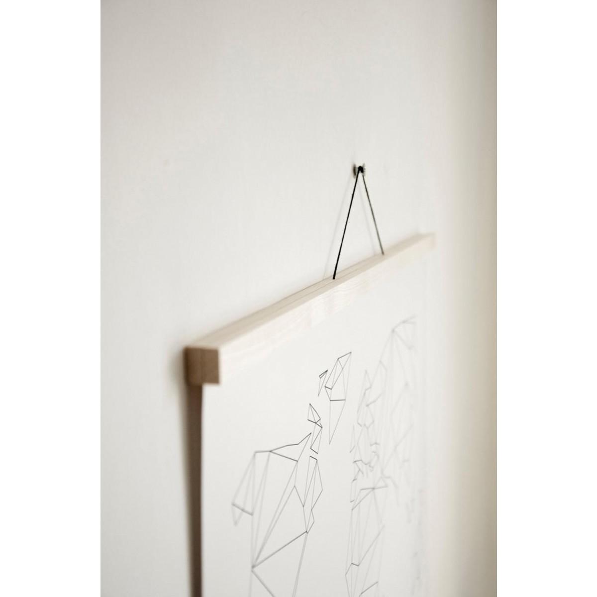 """nahili MAGNETISCHE POSTERLEISTE A0 """"Eco Click - On - Frame"""" Rahmen (inkl. Artprint) (Eiche, Ahorn, Nussbaum)"""