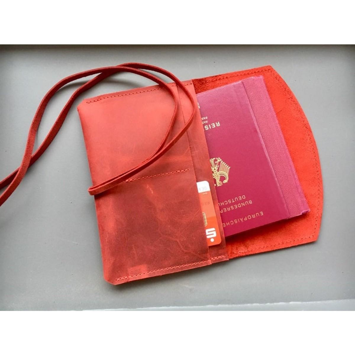 BSAITE / Reisepasshülle aus echtem Leder / Reisemäppchen / Tabakbeutel / Organizer
