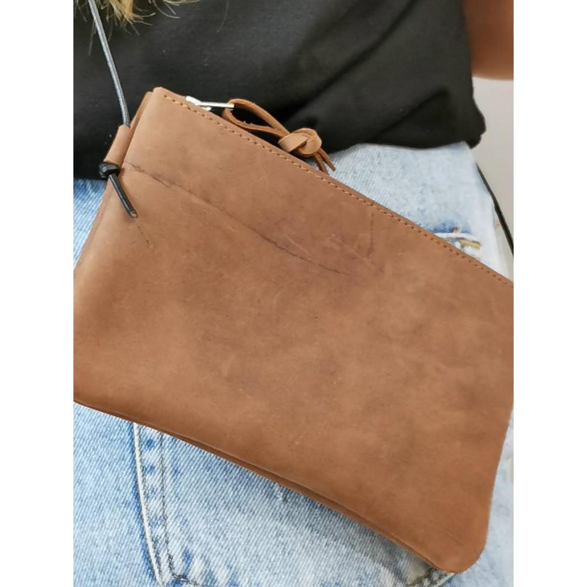 Minitasche // Crossbody Bag // Braune Ledertasche // Smartphonetasche // Ausgehtasche // Minibag