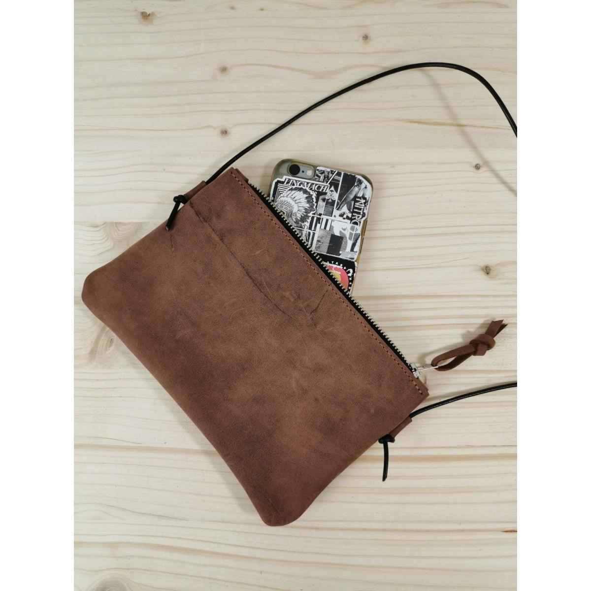 BSAITE kleine Umhängetasche / Smartphone Bag / Mini / Echt Leder