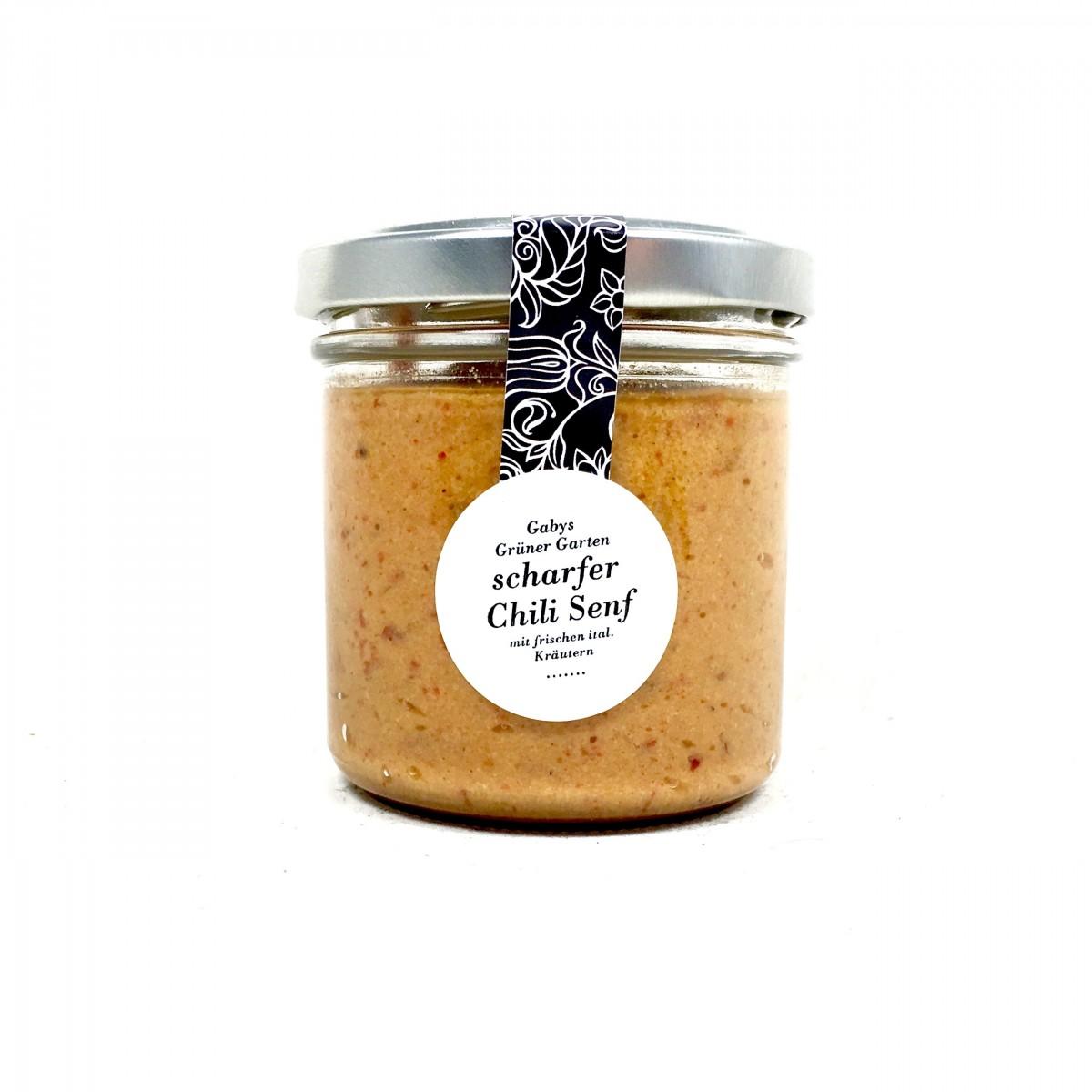 Gabys Grüner Garten scharfer Chili Senf 165g