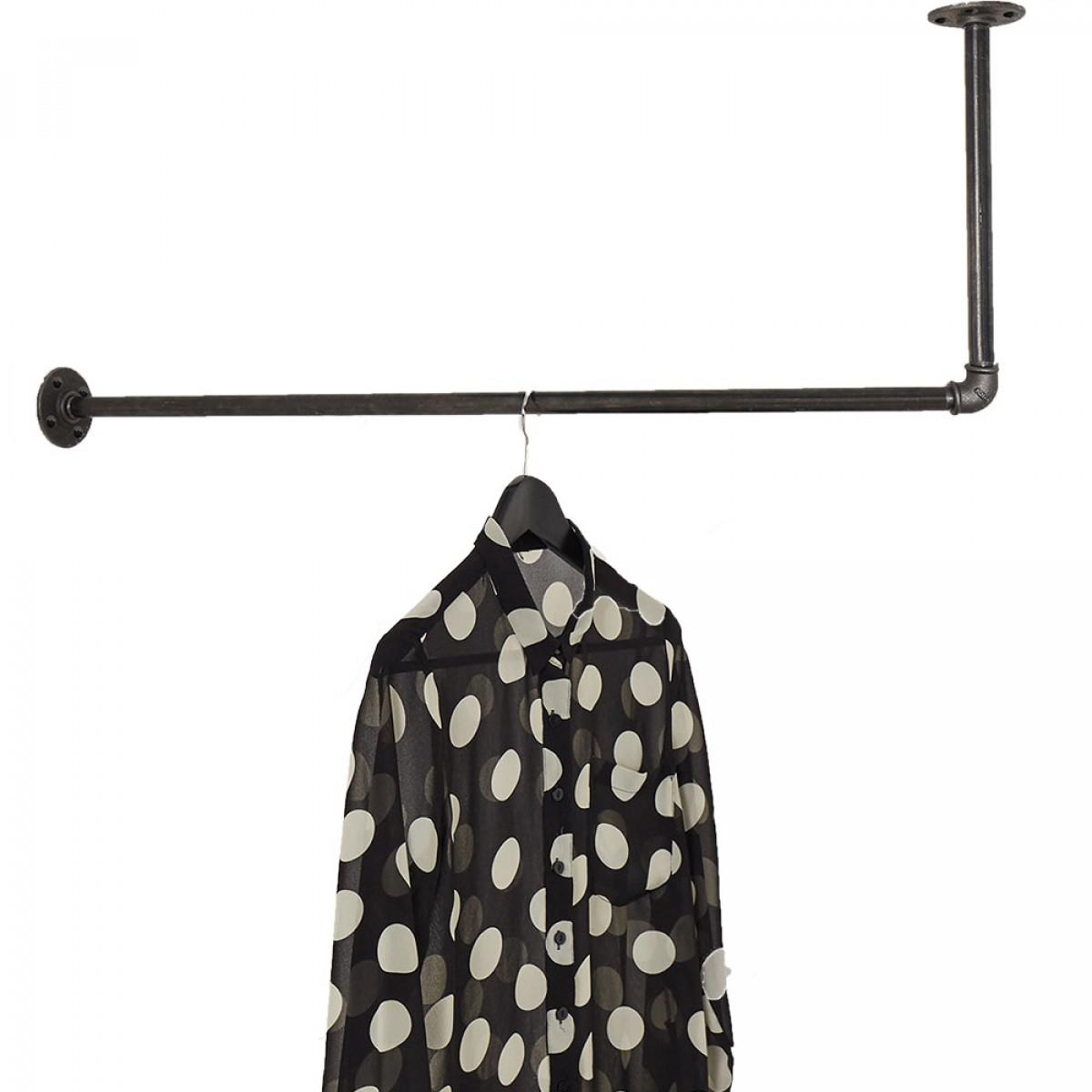 Industrial Design Kleiderstange für Deckenmontage in L-Form HANGIN' ONE