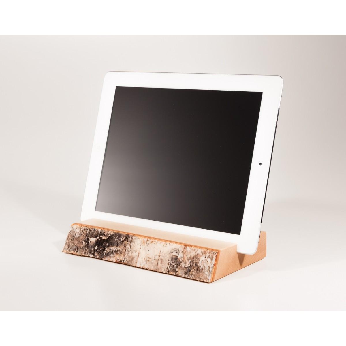 wood u halterung halter f r ipad und tablet aus holz. Black Bedroom Furniture Sets. Home Design Ideas