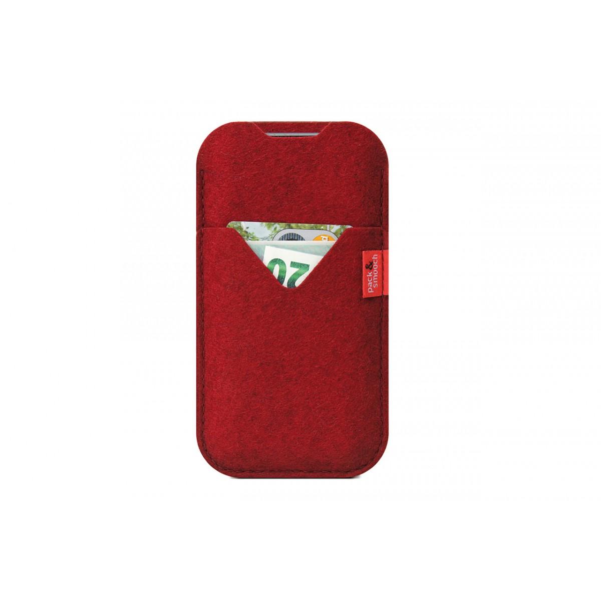 iPhone XR Hülle mit Kartenfach KIRKBY 100% Merino Wollfilz