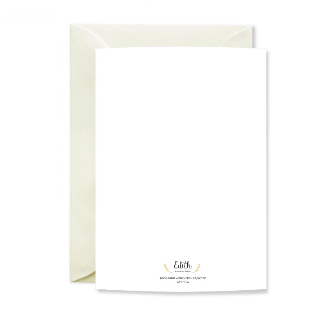 """Edith schmuckes Papier """"JA! - Geschenk Set"""" 2 Bögen Geschenkpapier und 1 Grußkarte mit Briefumschlag"""