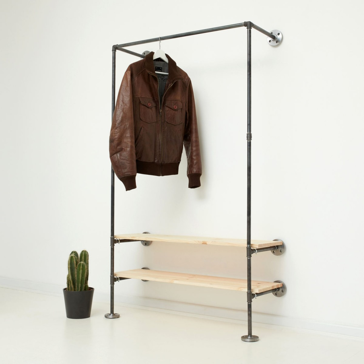 various Industrial Design Garderobe mit Regal IDEAL TWO (Wunschmaß)