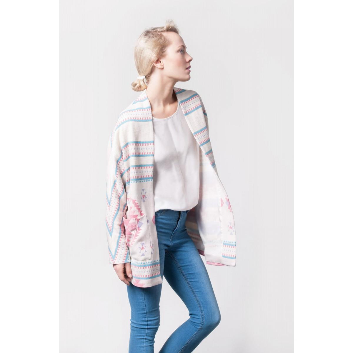Johanna Junker // Kimono türkis – rosé (onesize)
