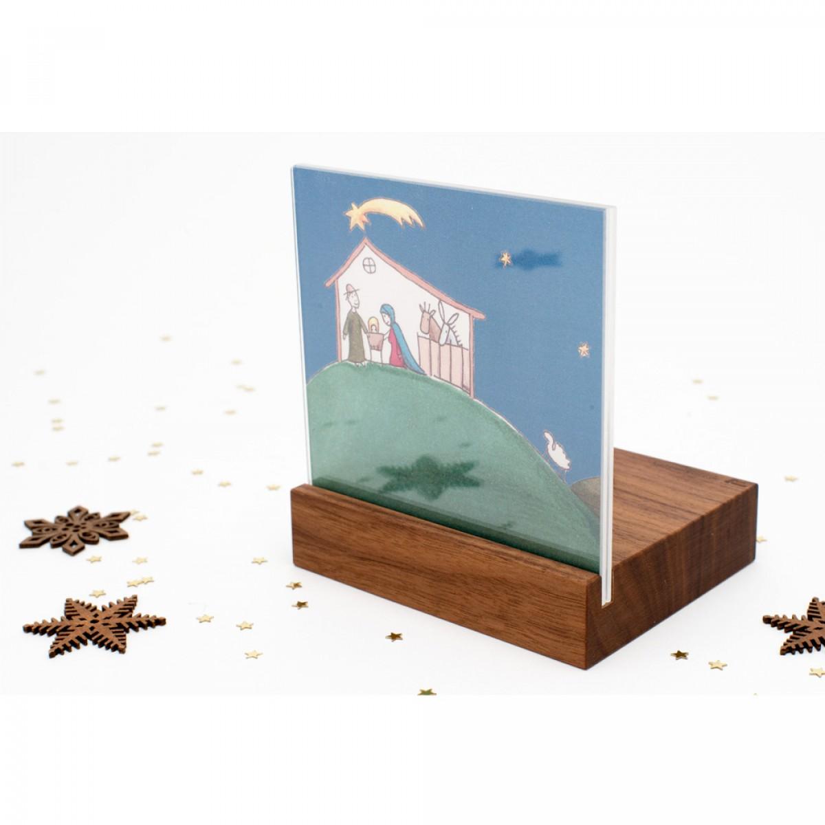 klotzaufklotz Weihnachtskrippe Mini Landschaft (Nussbaum)