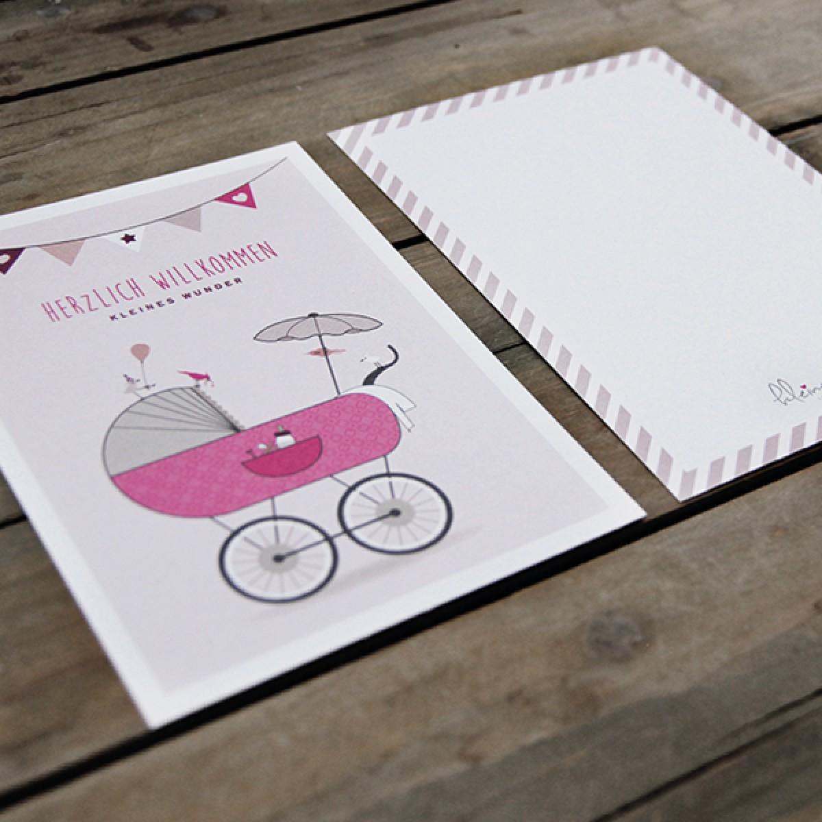 kleiner mensch Postkarte (Mädchen)