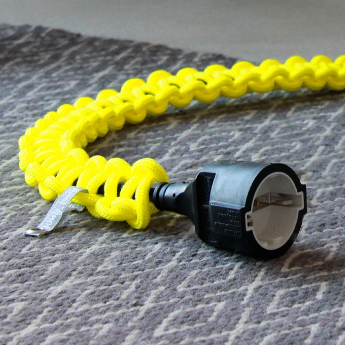 knot*knot 2m schwarze Verlängerung mit neongelbem Strangknoten