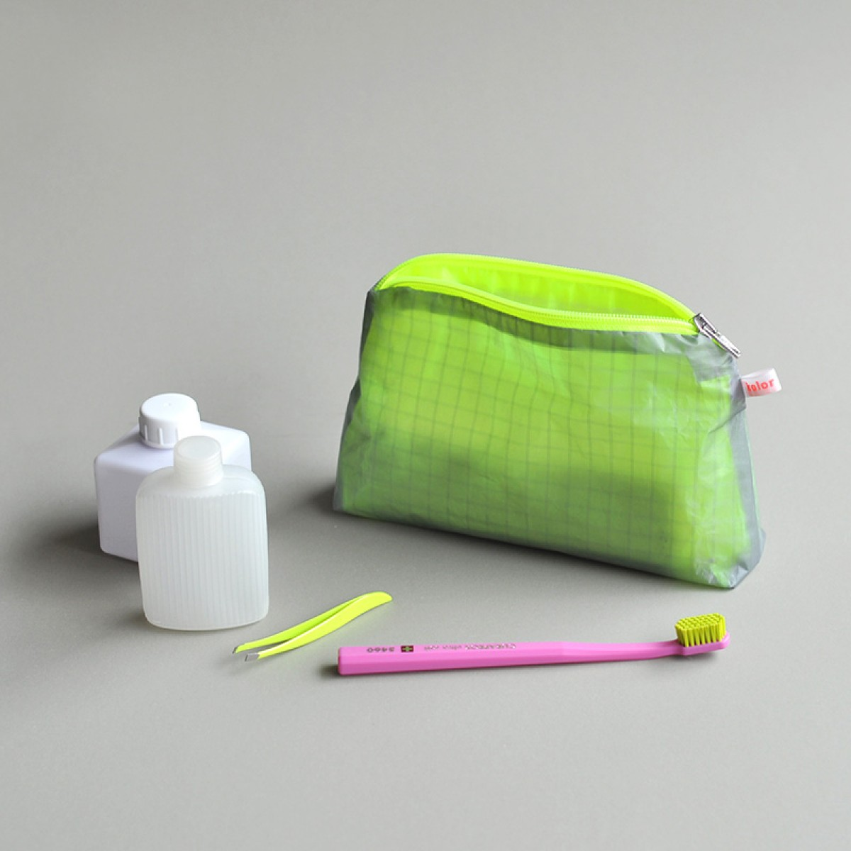 kolor magic pouch with zipper S / Kulturbeutel klein