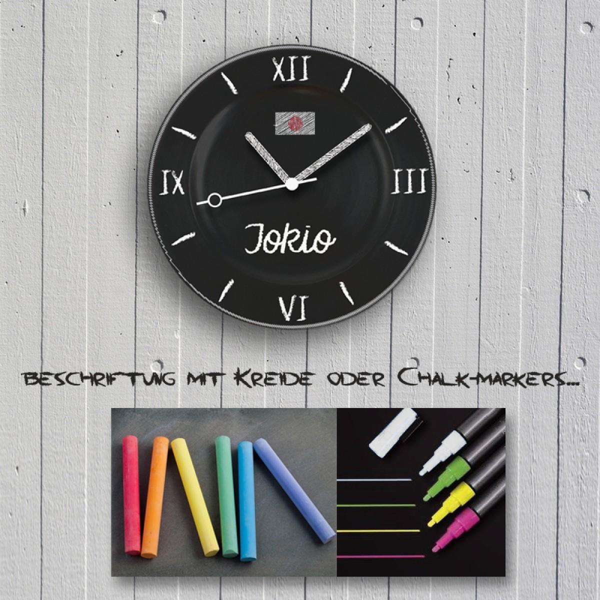 Kreidezeit – Die Wanduhr als Tafel für Deine Kreidegrafiken und Textbotschaften