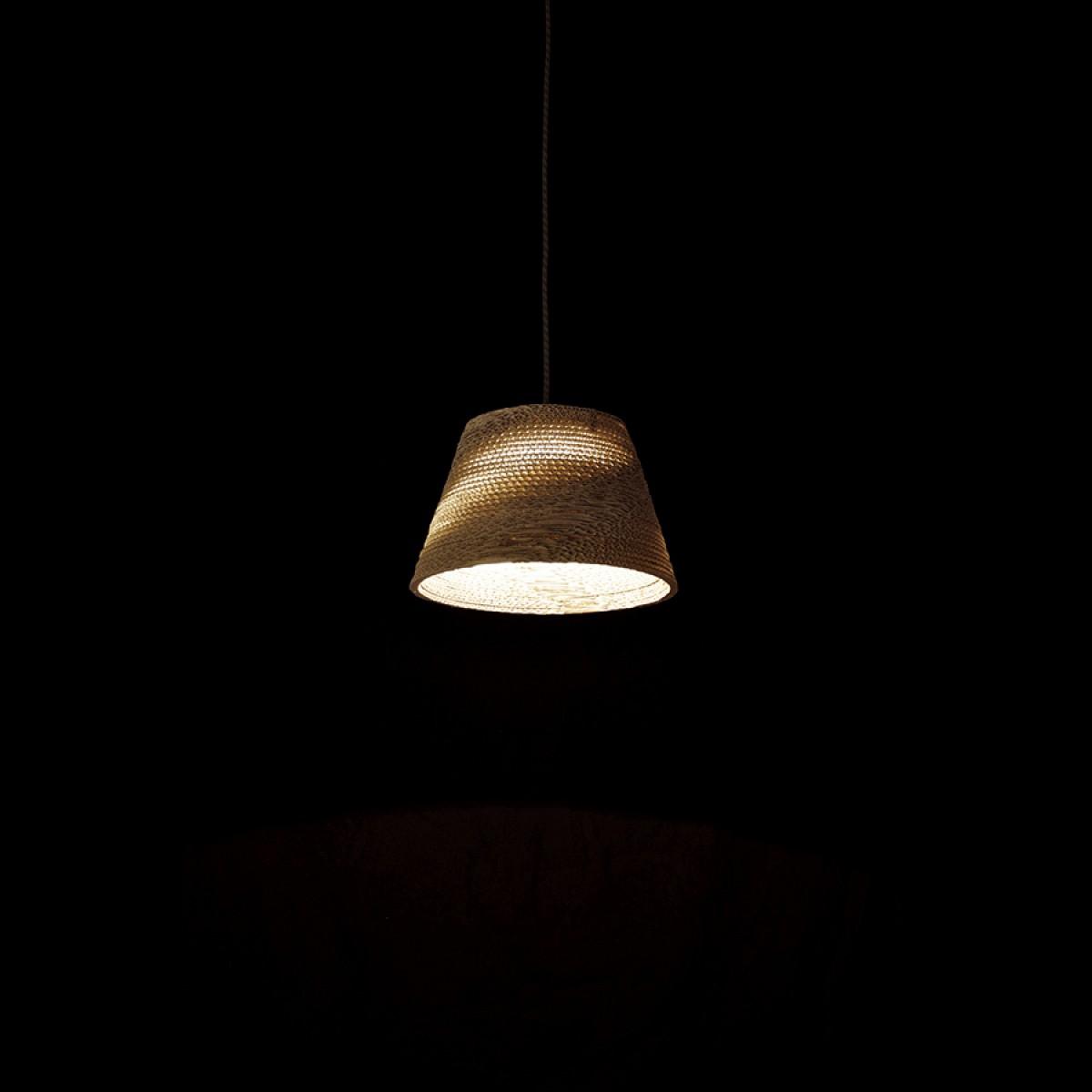Cardboard lampshade, n1, type A - Hängelampe