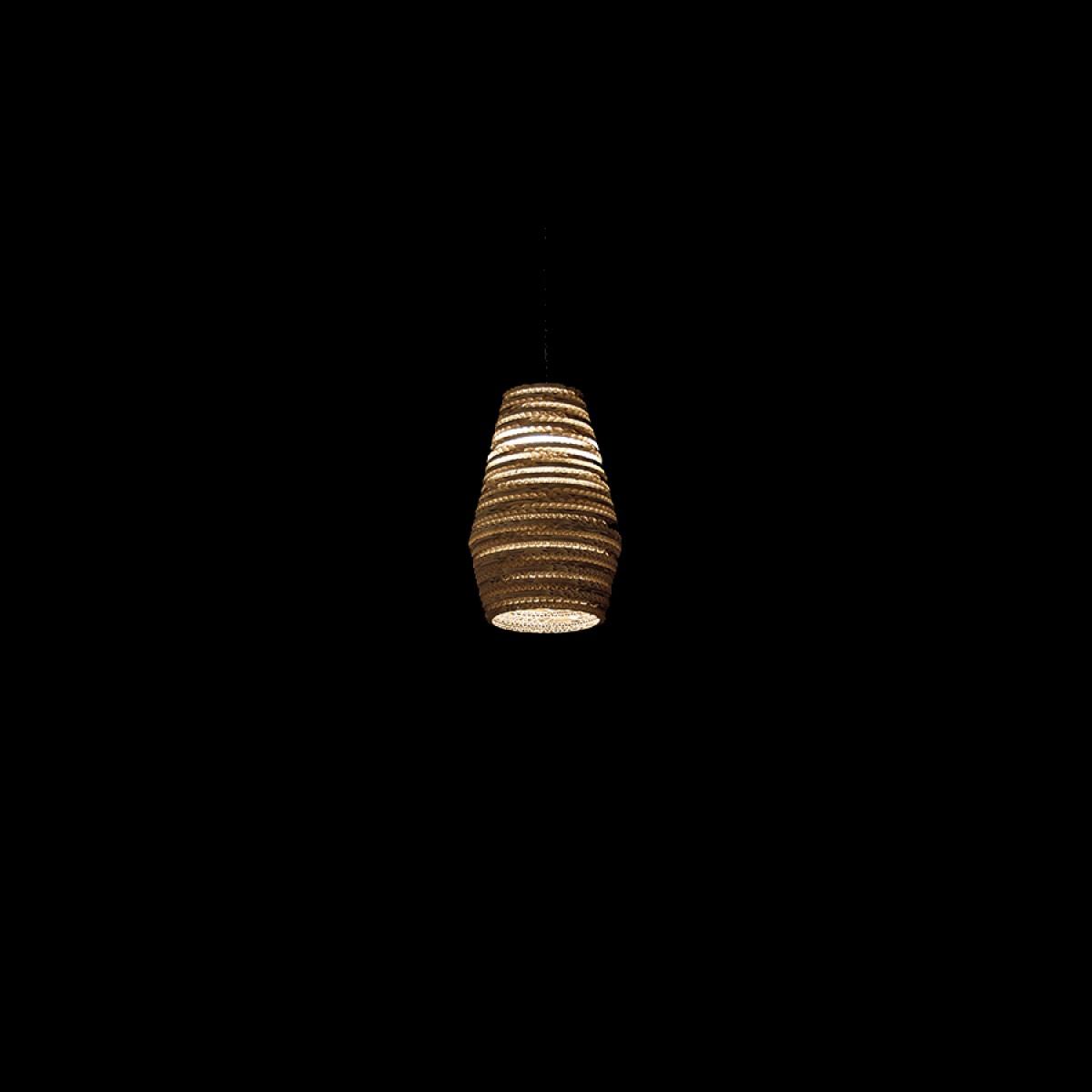 Cardboard lampshade, n2, type B - Hängelampe
