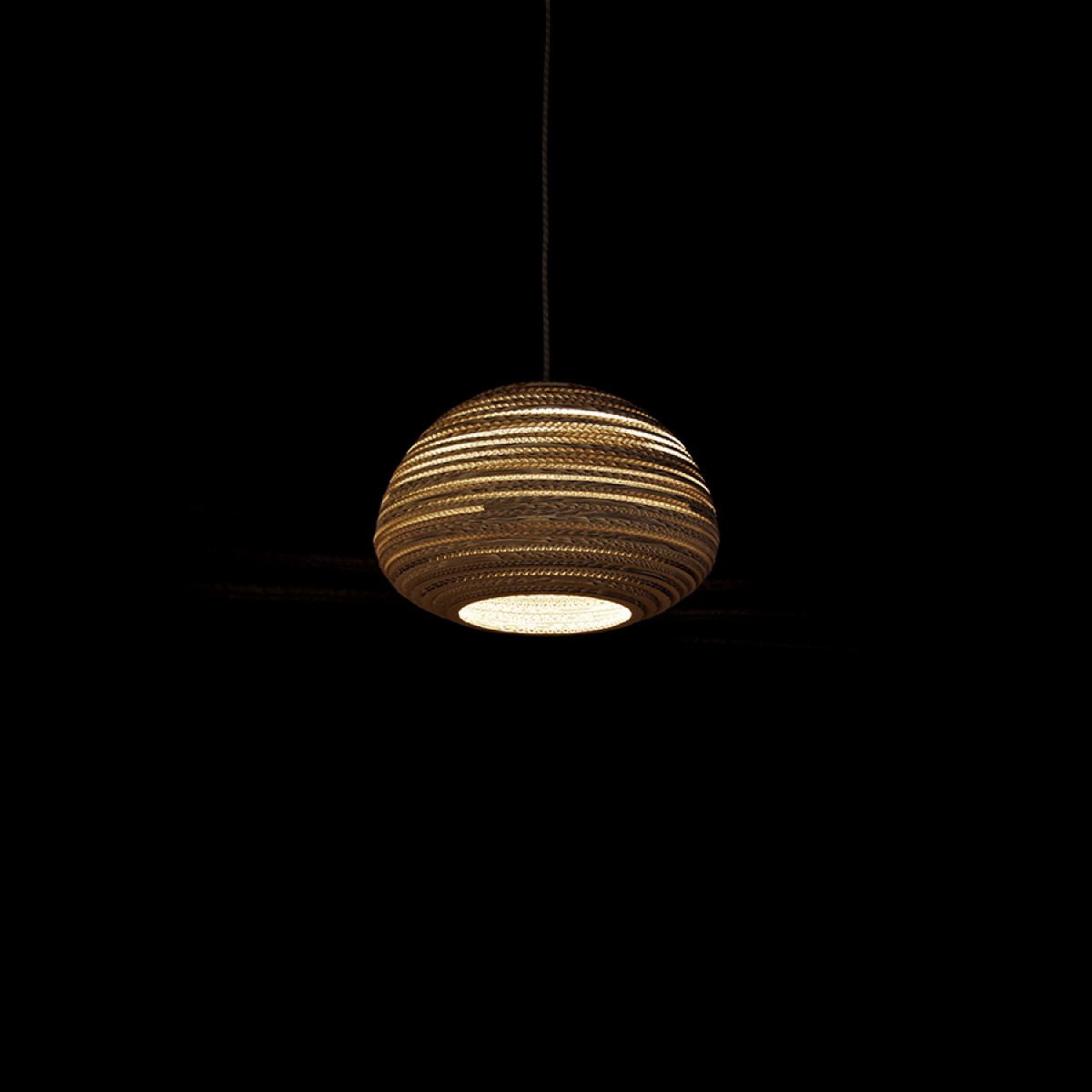 Cardboard lampshade, n3, type B - Stehlampe