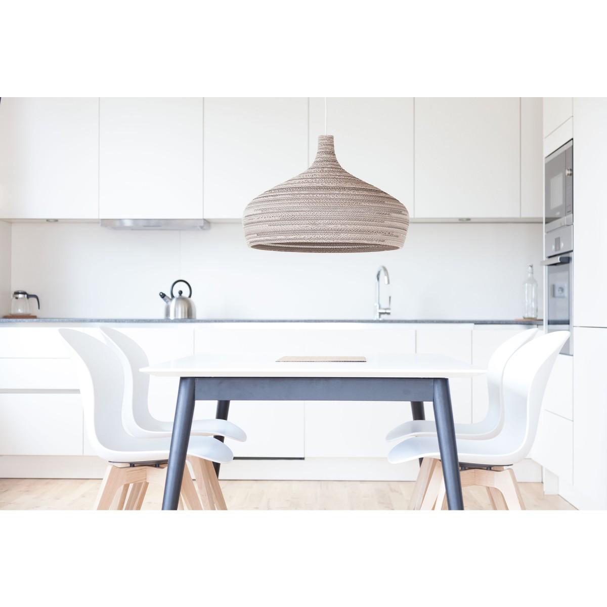 Cardboard lampshade, n6 - Hängelampe