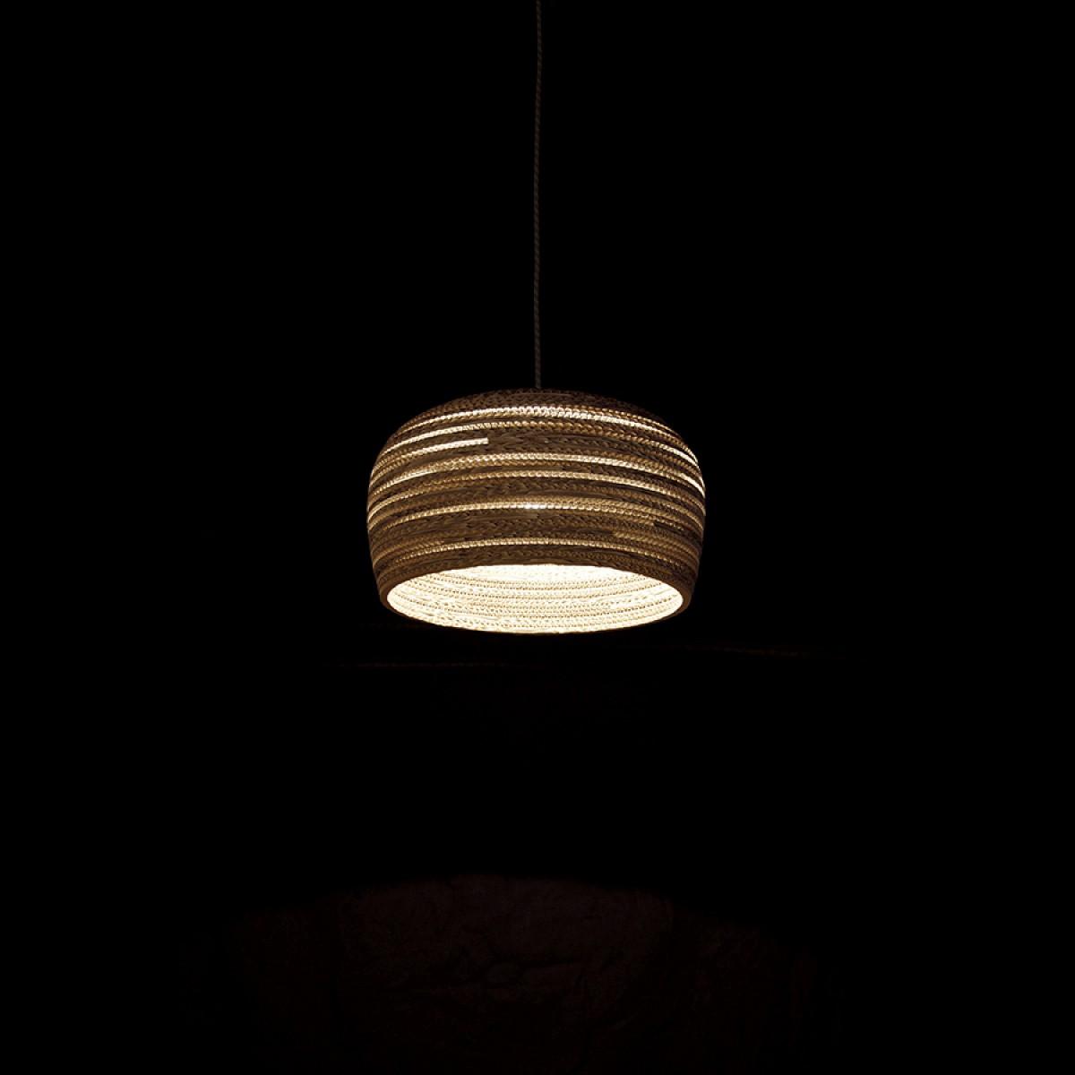 Cardboard lampshade, n8 - Hängelampe