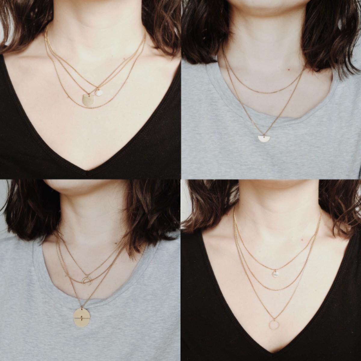 BRASSCAKE // Plain Necklace