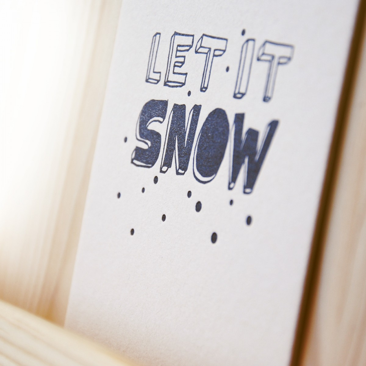 finicrafts Let it snow Xmas Letterpress-Postkarte