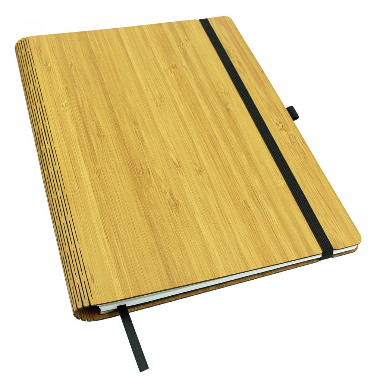 JUNGHOLZ Design Notizbuch WoodBook, Bambus A4
