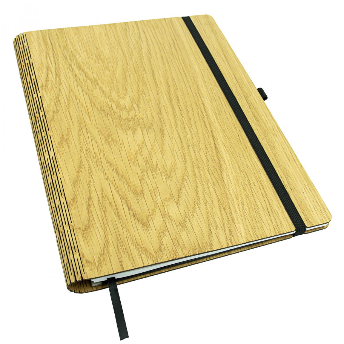 JUNGHOLZ Design Notizbuch,  WoodBook, Eiche, A4