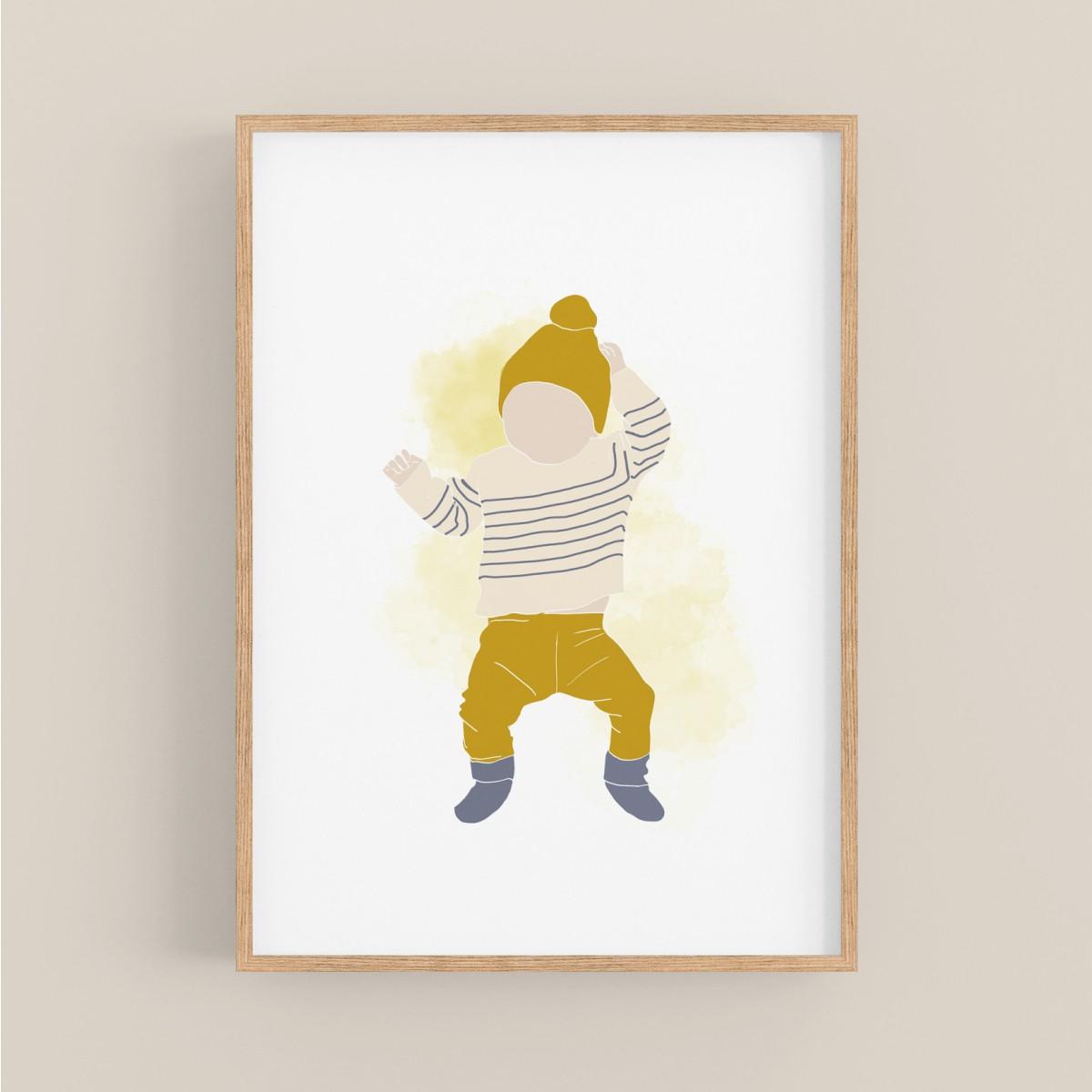 hasenkinder - Digitalprint - little boy DIN A4