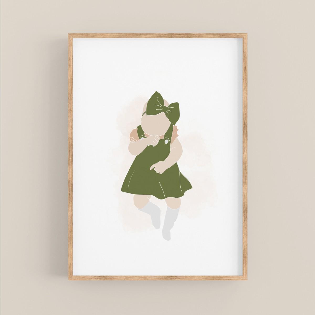 hasenkinder - Digitalprint little girl DIN A4