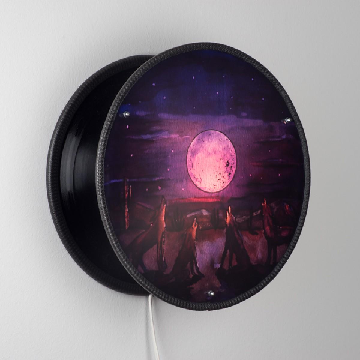Vinyl-O-Plex - Wandlampe aus Schallplatten