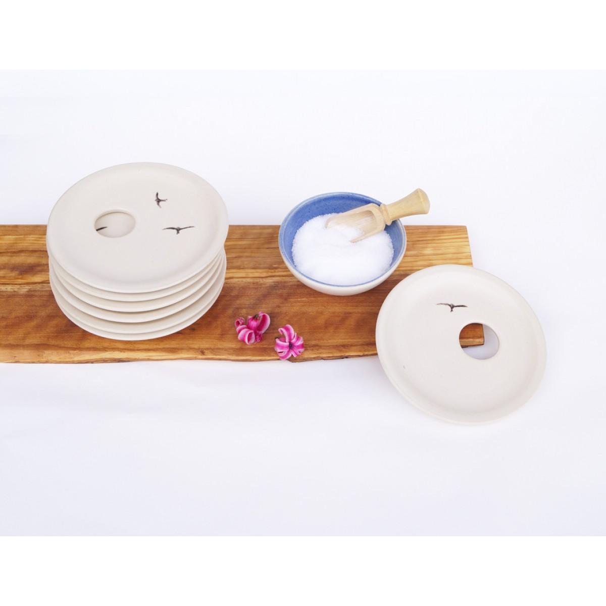 Ei, Ei, Eierteller aus Keramik mit Schwalbe von loopKeramik