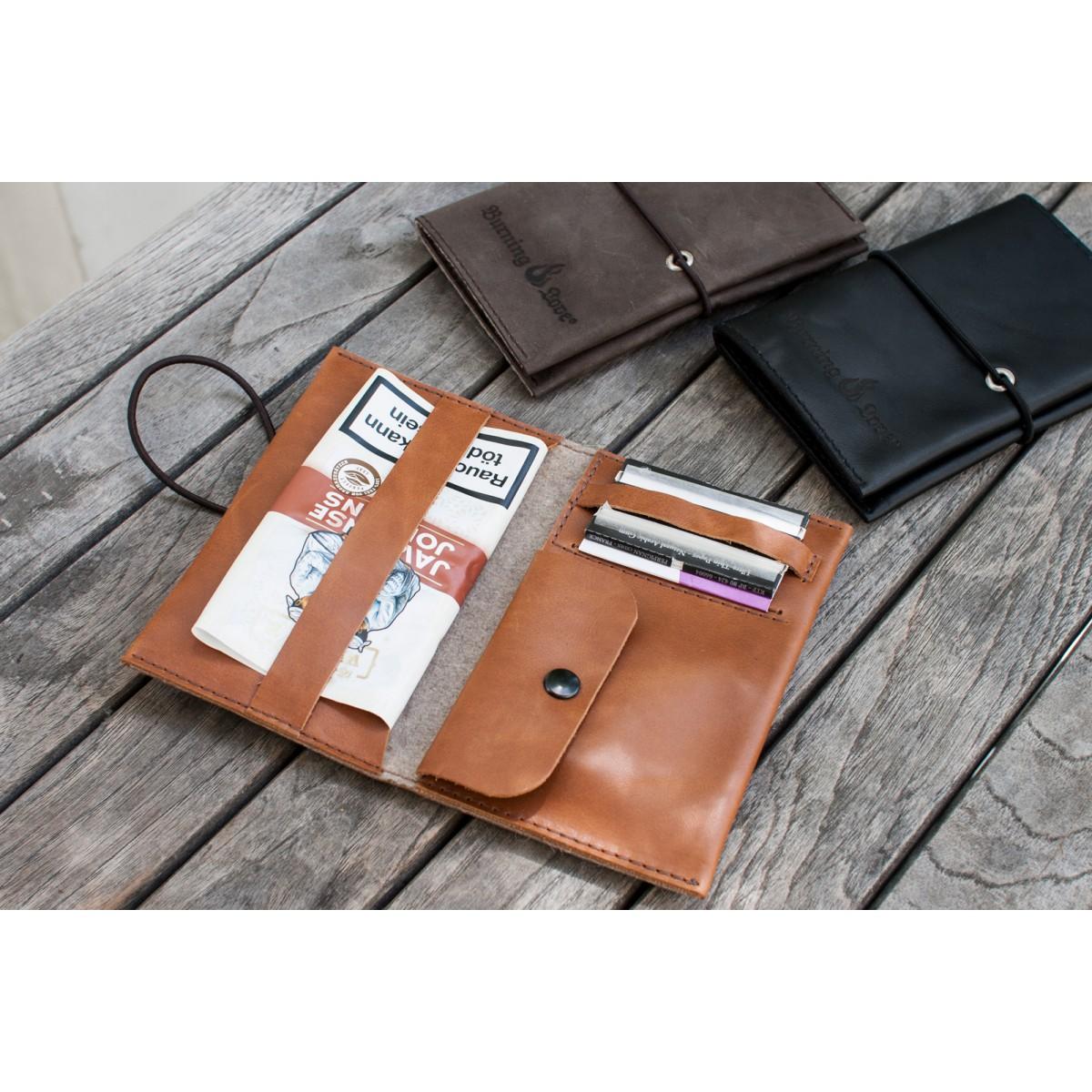 Love Leather Smoking Pouch - Leder Tabaktasche (schwarz)
