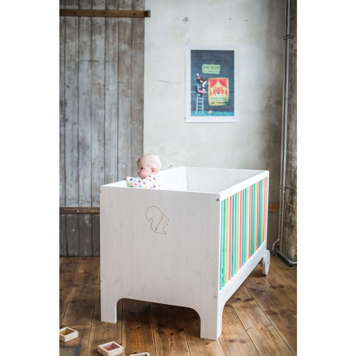 ekomia babybett lumy bunt. Black Bedroom Furniture Sets. Home Design Ideas