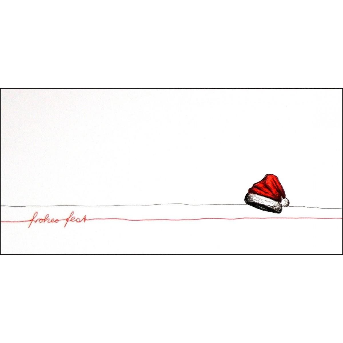 Weihnachtskarte Mütze (Set)