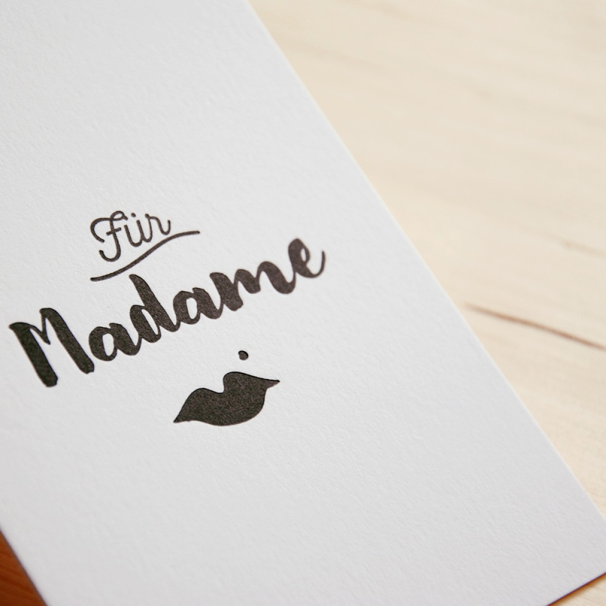 finicrafts Madame Letterpress-Postkarte