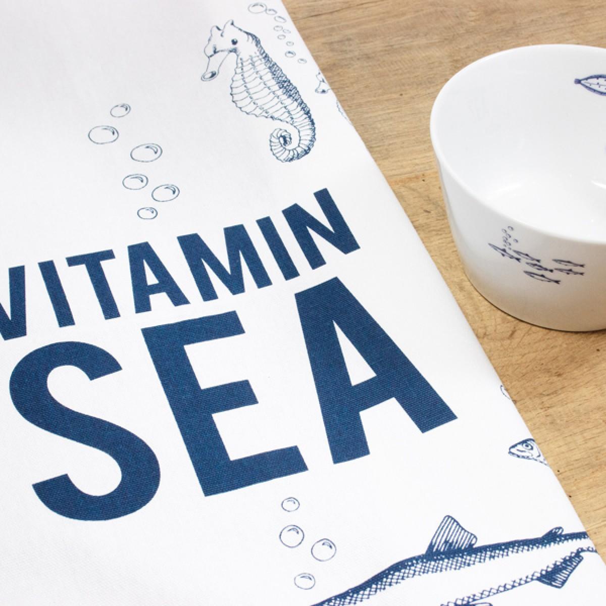 "Bow & Hummingbird Geschirrtuch ""Vitamin Sea"""