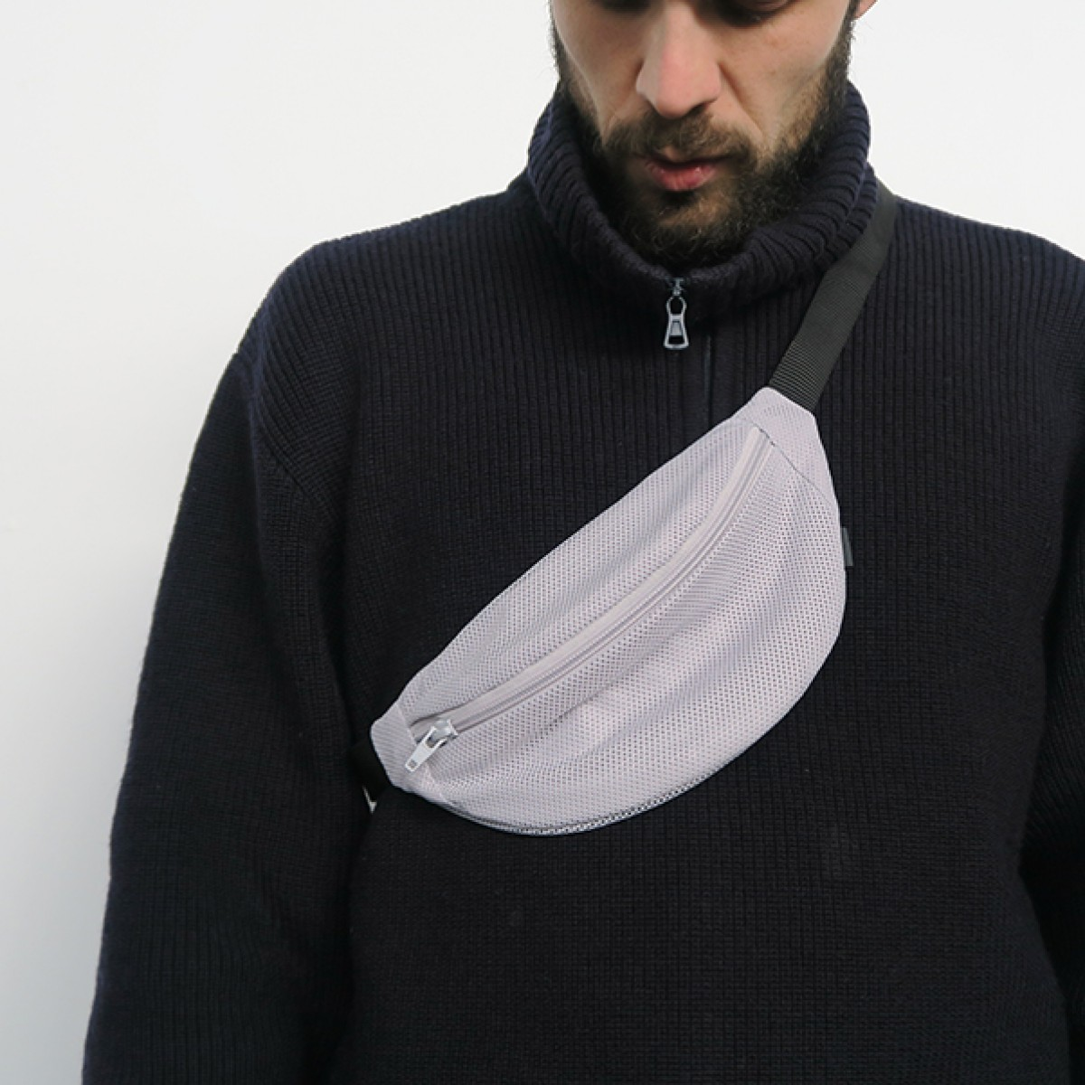 FINSTER hipbag grey mesh