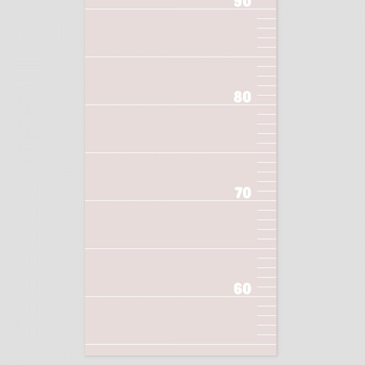 punktkommastrich - Messlatte für Kinder - almost mauve