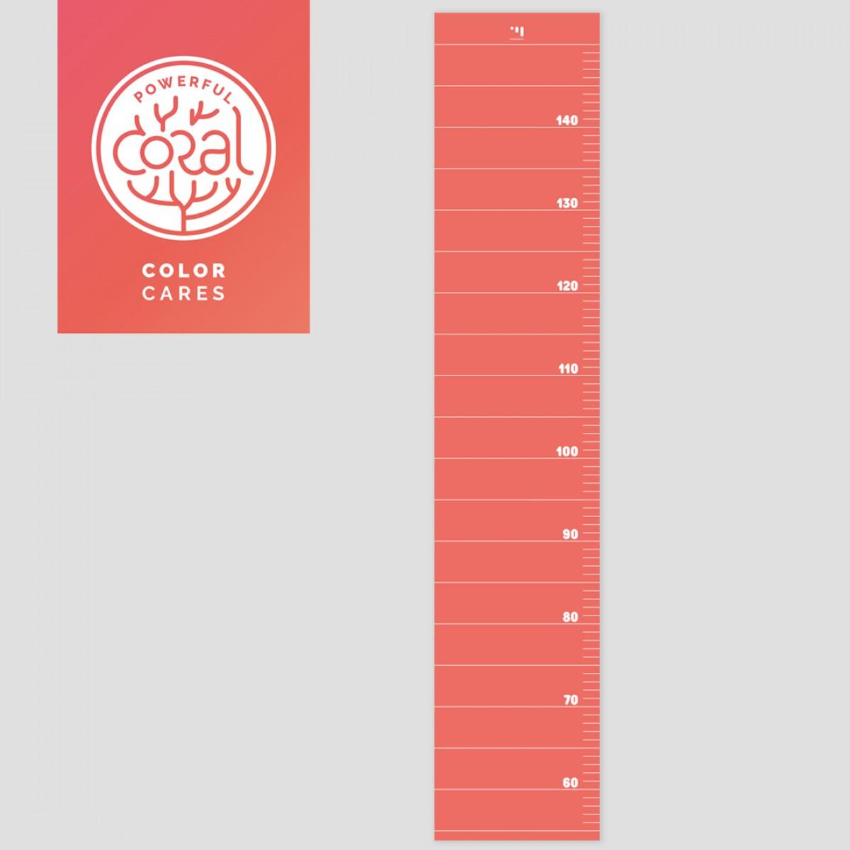 punktkommastrich - Messlatte für Kinder - living coral