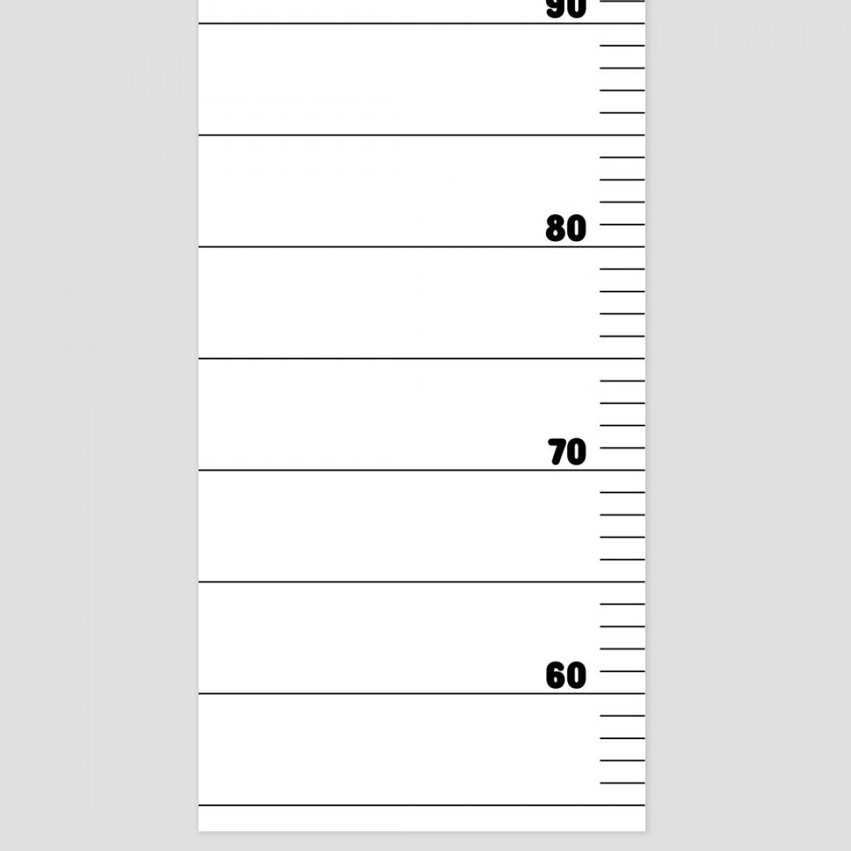 punktkommastrich - Messlatte für Kinder
